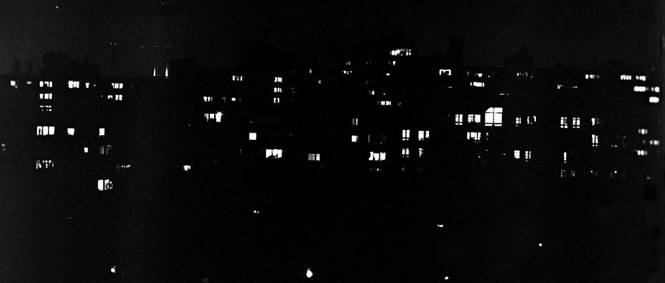 Houses in Berlin at Night