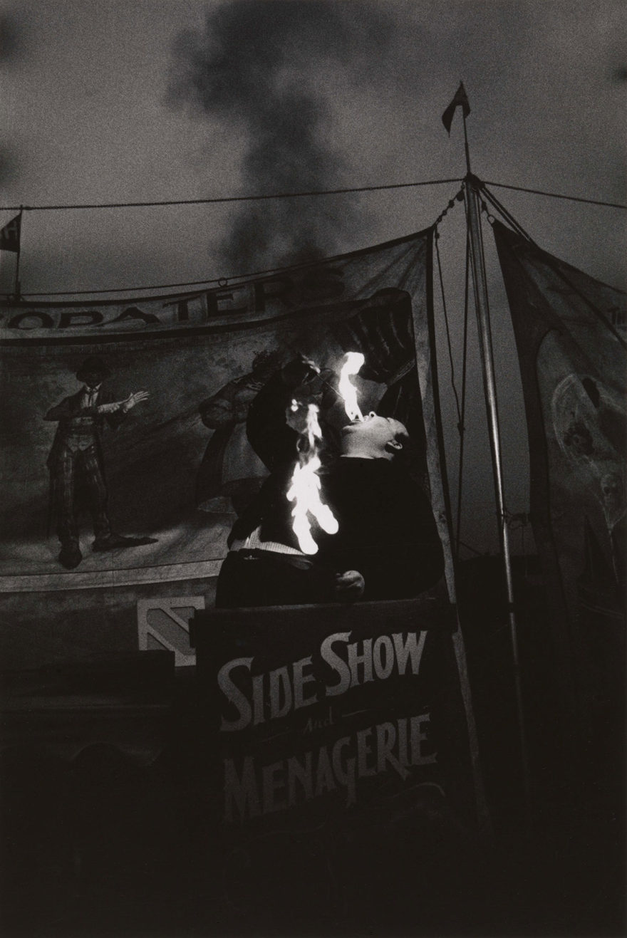 MONROWE - Fire Eater at a carnival, Palisades Park, N.J. 1957 © The Estate of Diane Arbus, LLC. All Rights Reserved