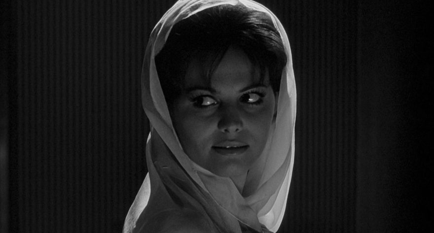 image of Claudia Cardinale - 70th edition of the Festival de Cannes. Black and white photography