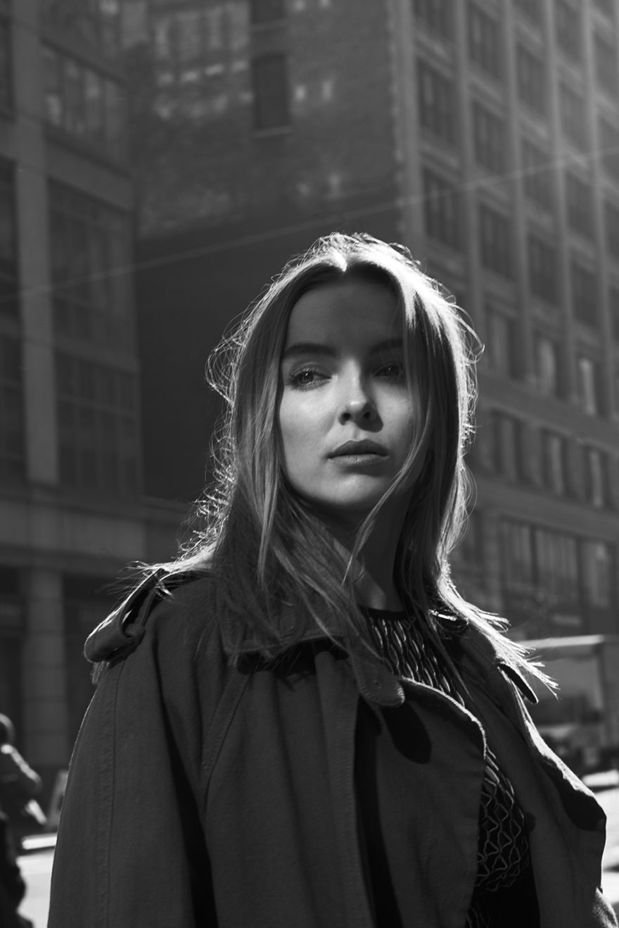 Jodie Comer for MONROWE Magazine. Photography by Chad Davis. Style by Christian Stroble. Hair by MATTHEW MONZON. Makeup by Satsuki Soma
