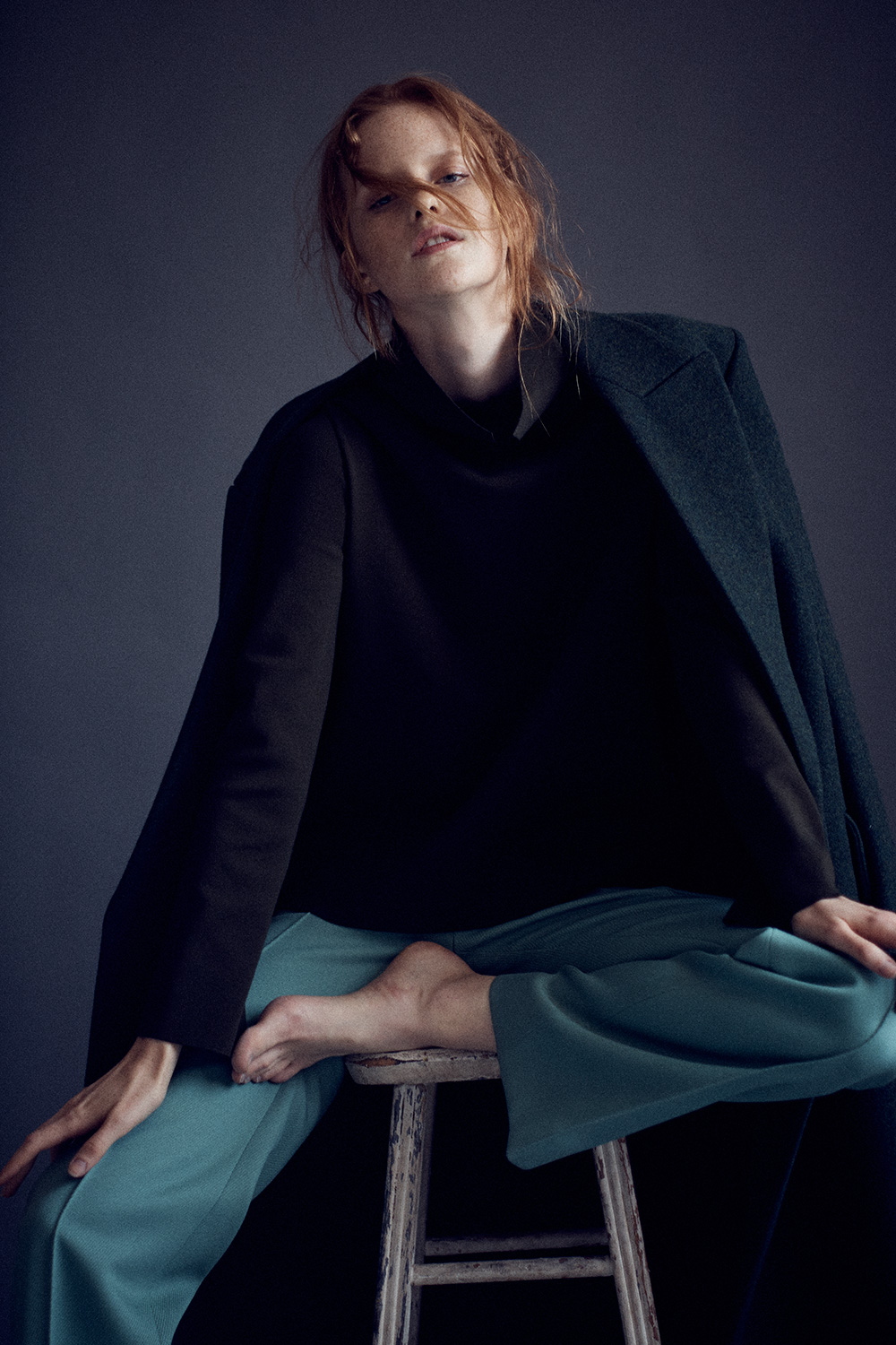 Image of Magdalena Jasek for MONROWE Magazine wearing Celine. Photo by Nick Hudson