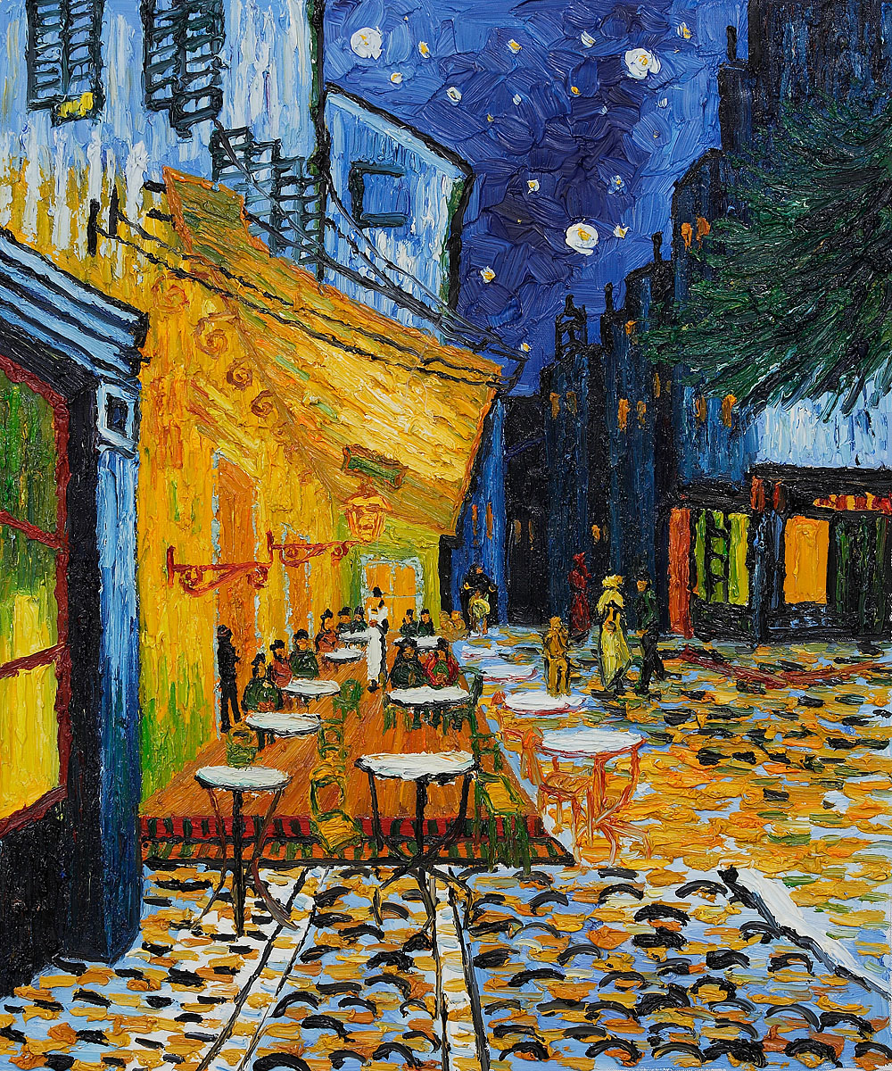 Image of Vincent Van Gogh's - Cafe-Terrace at Night Renoir.