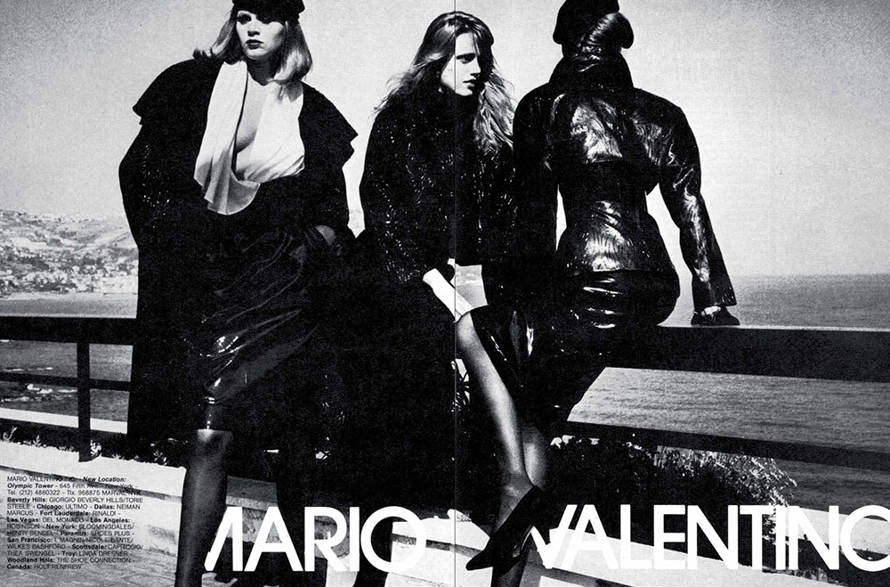 Helmut Newton for Mario Valentino Campaign, Ad-Age for MONROWE Magazine