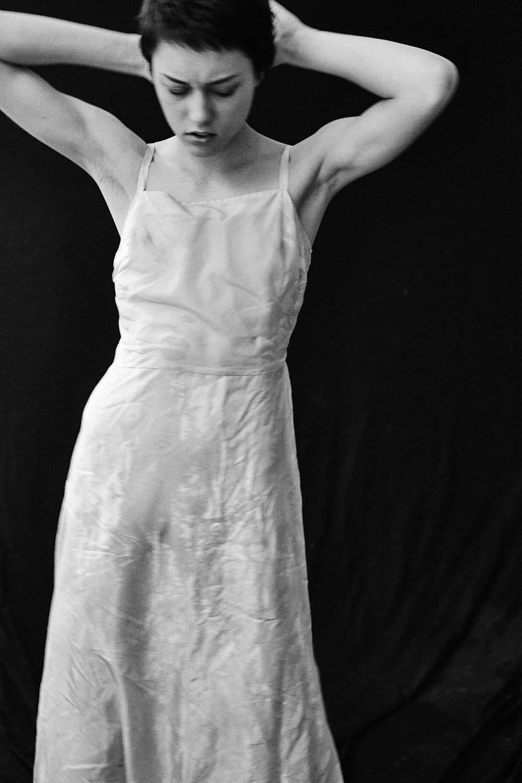 Model Sasha Shugaii. Black and white photo by Patrick Xiong.