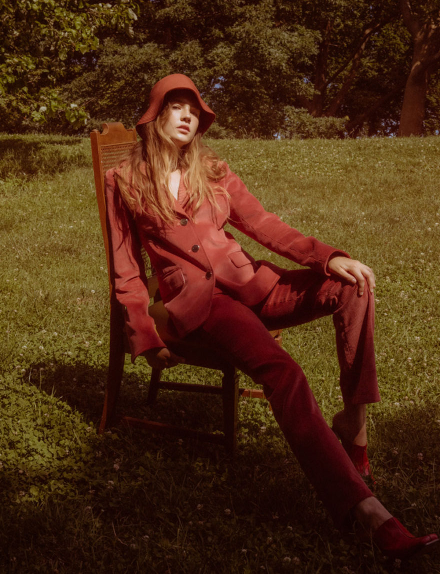 Runaways Color Photo by Tiffany Nicholson for MONROWE Magazine. Model Elizabeth in Lorod Jacket, Pants and Hat.