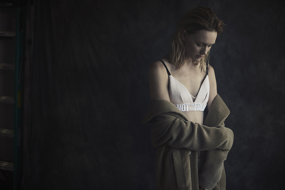 Color photo by Ryan Michael Kelly of actress Kerry Biché for MONROWE Magazine