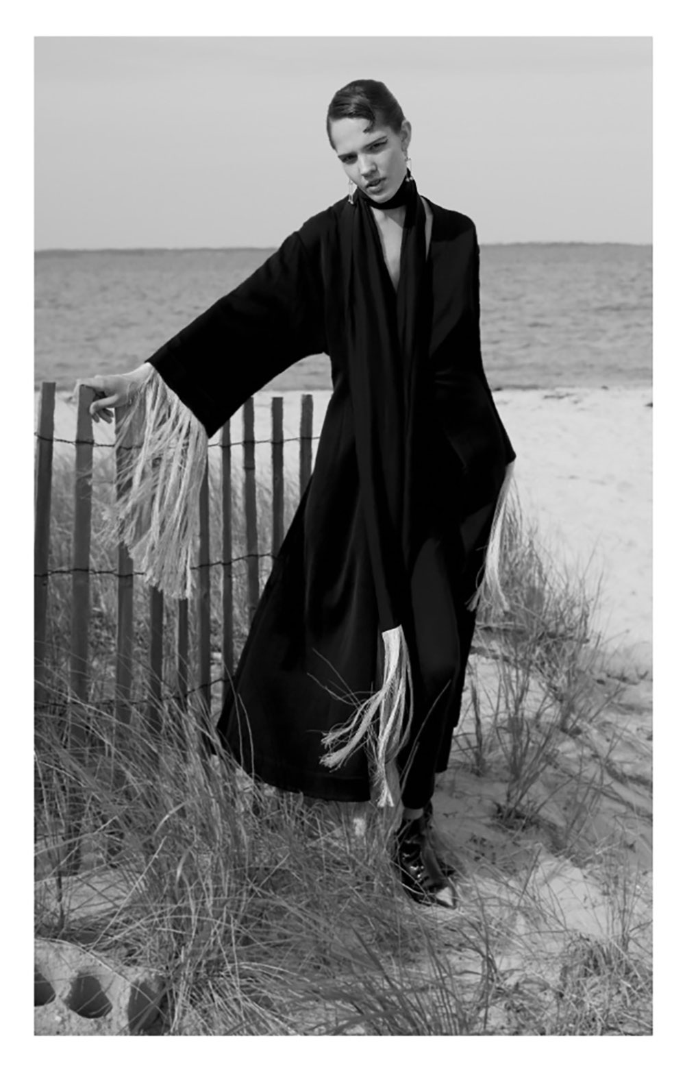 Black and white image of Getter from ONE model management by Jack Grayson for MONROWE magazine