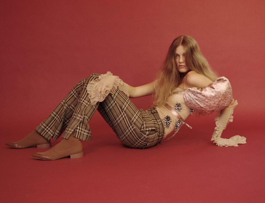 Model Rebekka Sandok photographed by Charlie Gates in color for MONROWE Magazine.