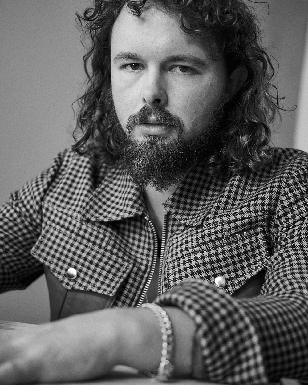 Black and white photo of Roy Molloy by JackO'Connor for MONROWE Magazine