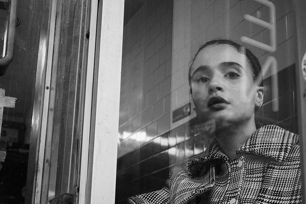 Black and white photo of Marley Parker by Ricardo Fernandes for MONROWE Magazine