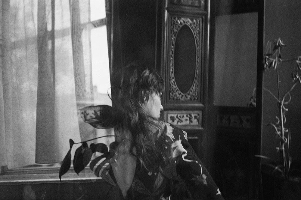 Black and white image of Kirralea Birch by Nima Chaichi for MONROWE Magazine