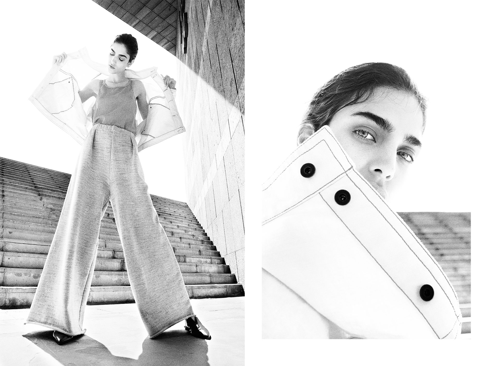 Black and white photography by Benjamin Tietge for MONROWE magazine