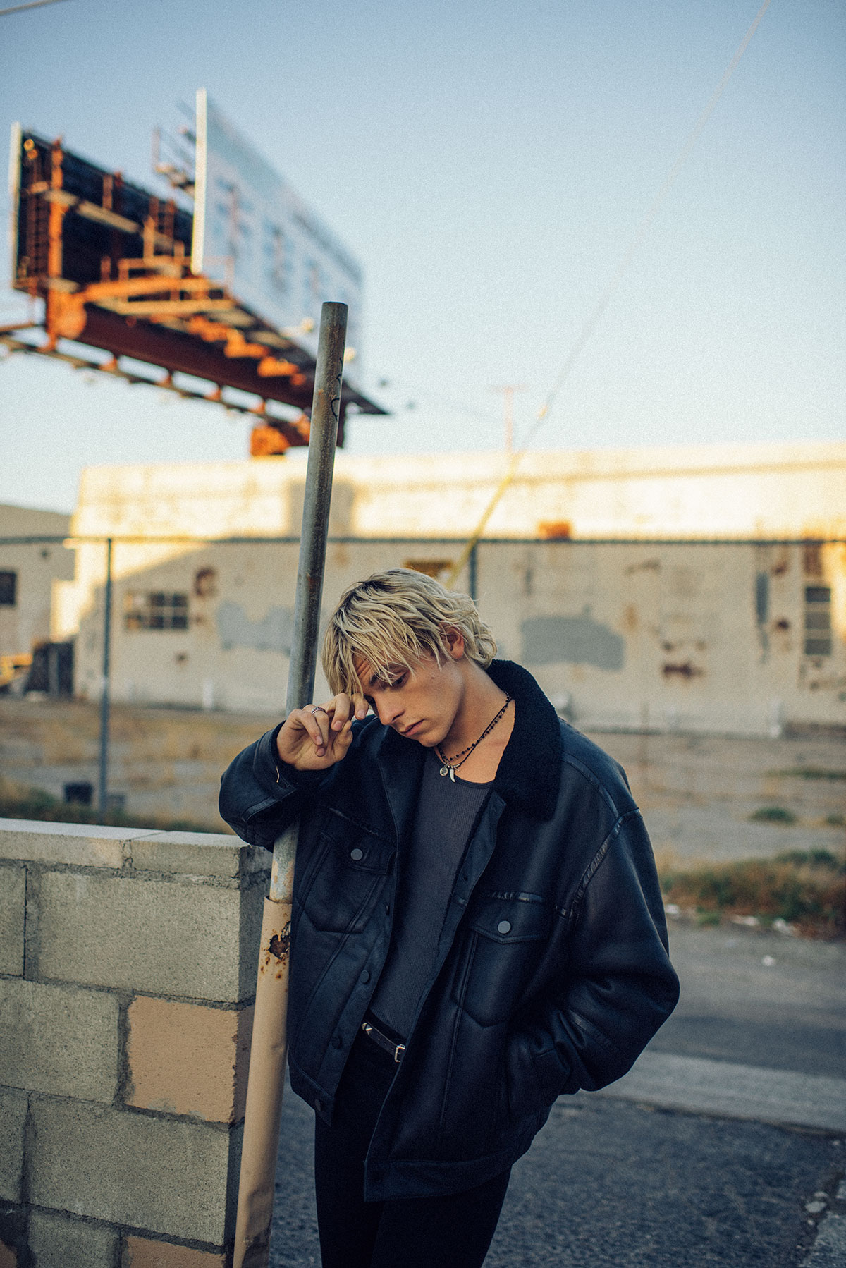 Colored photo of talent Ross Lynch by Theo Gosselin styled by Sean Knight for MONROWE Magazine