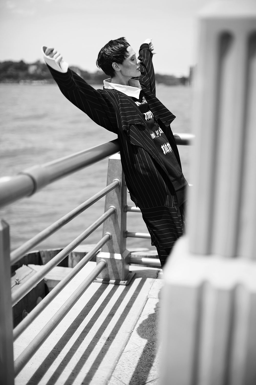 Black and white photo by Tatyana Nagayeva styled by Melissa Infante for MONROWE Magazine