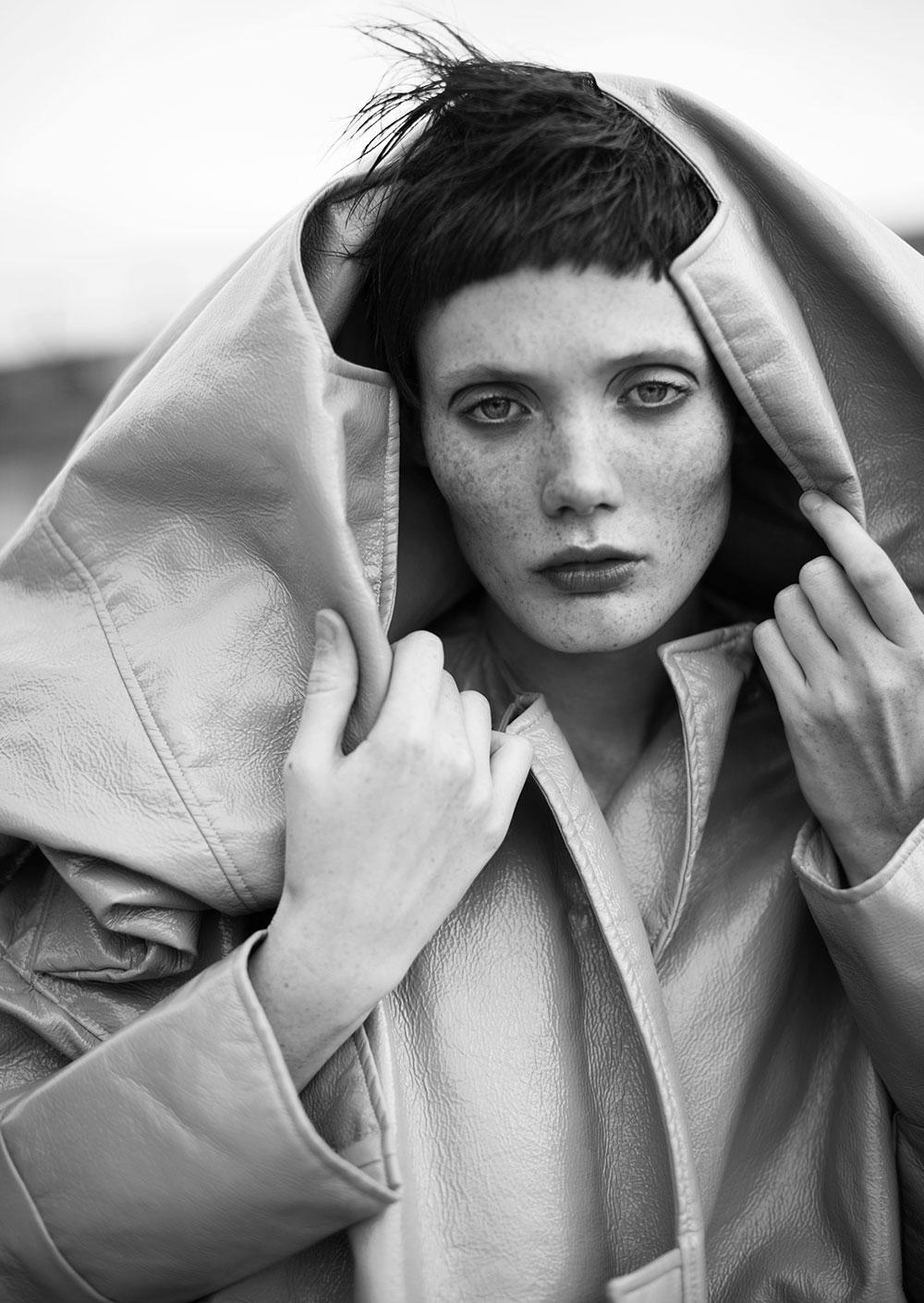 Black and white photo by Tatyana Nagayeva styled by Melissa Infante for MONROWE Magazine