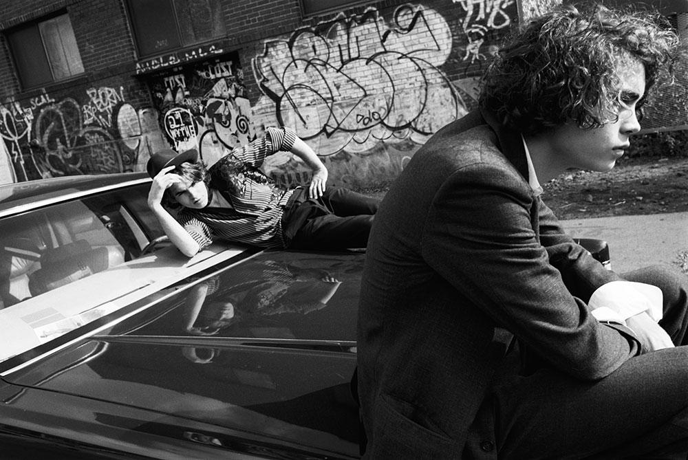 Black and white photo by Cornelius Kass styled by Mimi Kim for MONROWE Magazine