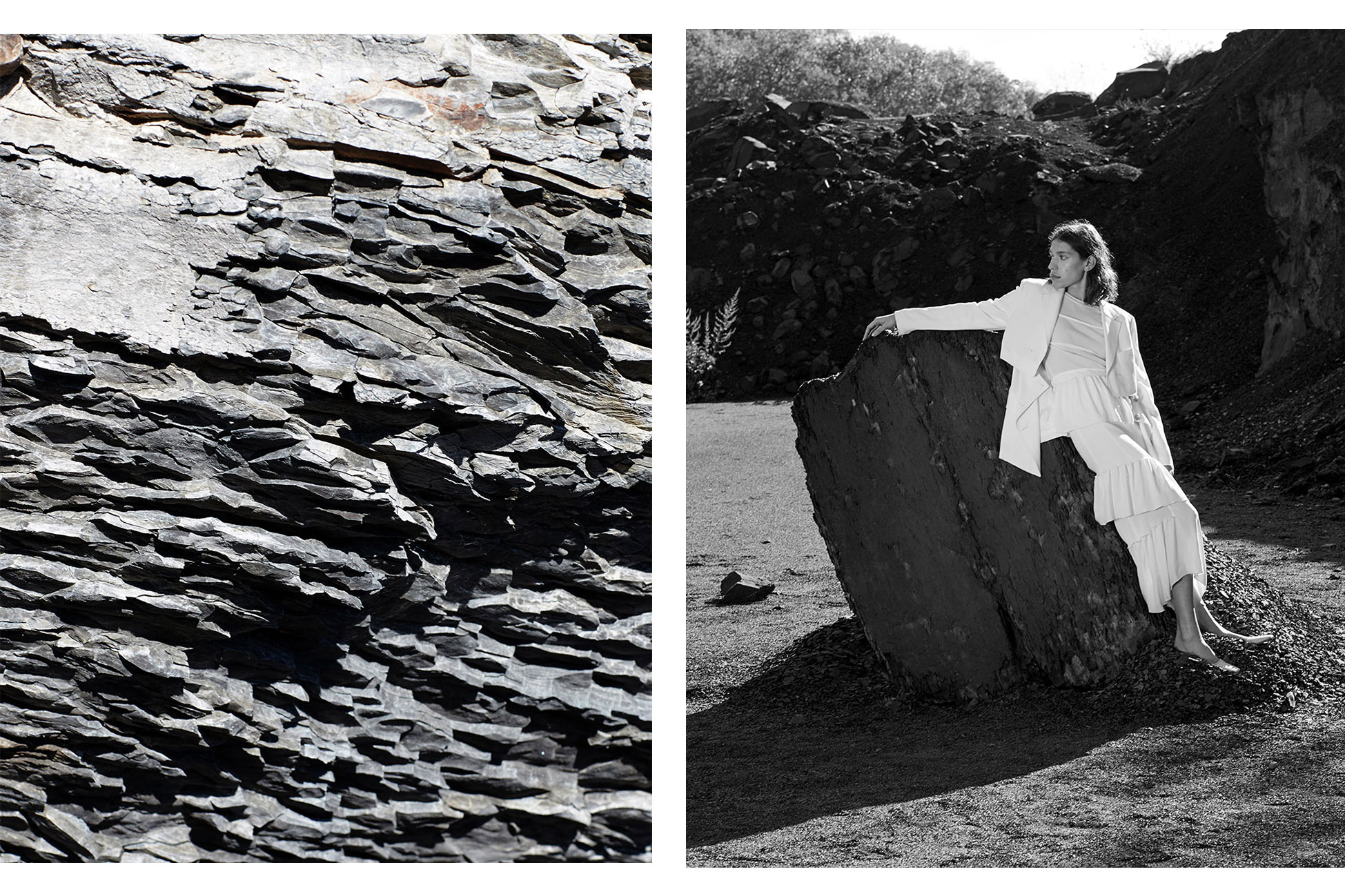 Colored/black and white photos by Manolo Campion for MONROWE Magazine styled by Carolina Orrico