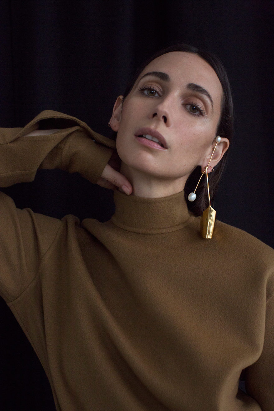 Colored photo of actress Rebecca Dayan by Victoria Stevens for MONROWE Magazine