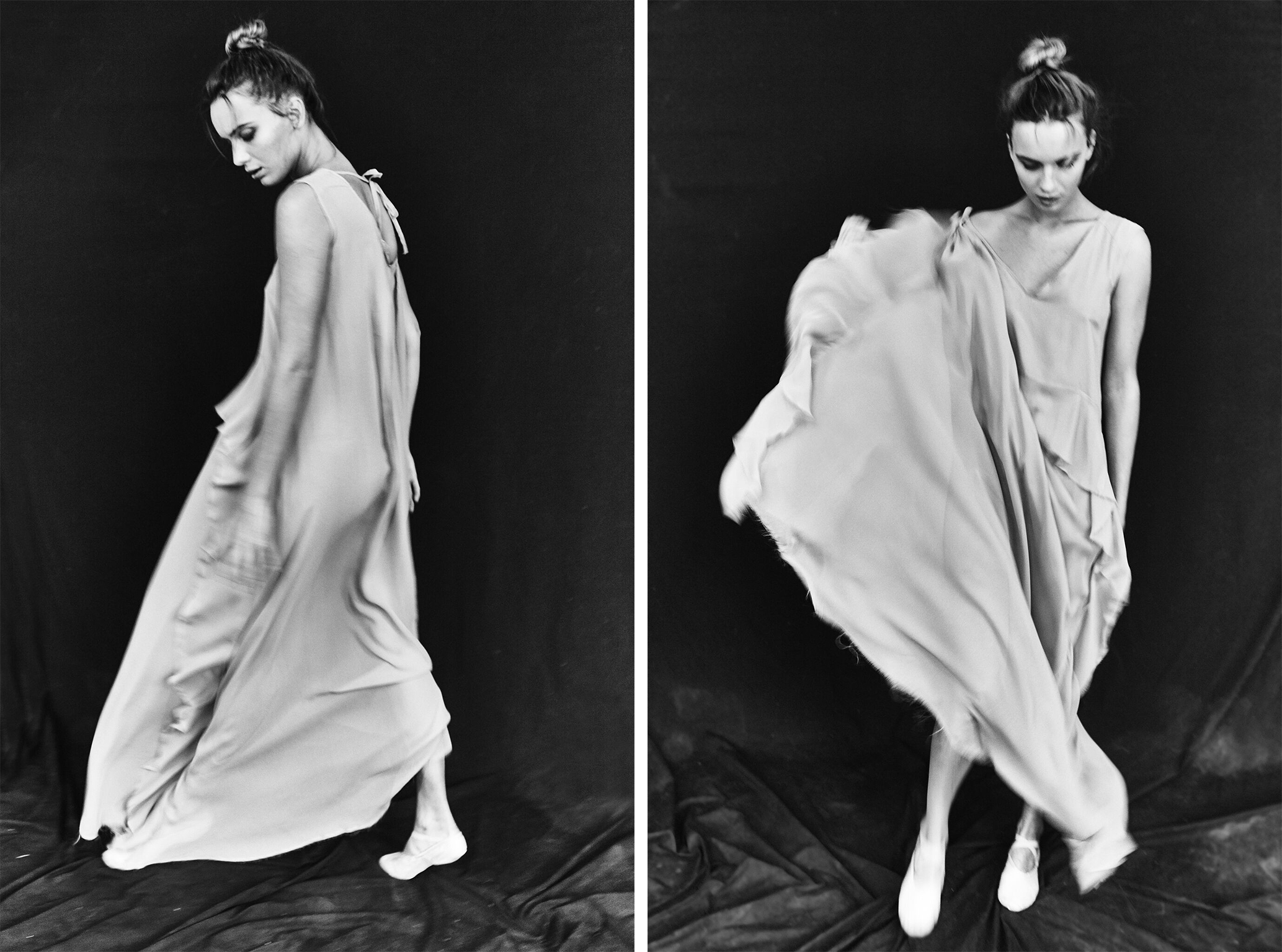 Black and white photo of Helen by Patrick Xiong for MONROWE Magazine